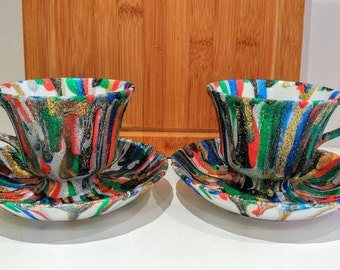 Funky Overspill Teacup Candle Holders