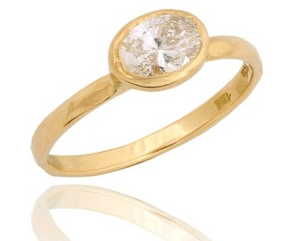 Oval Diamond Ring, 14k Gold Diamond Engagement Ring, Unique Engagement Ring, Diamond Ring, Wedding Ring, Diamond Engagement Ring
