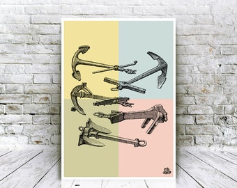 Anchor - Vintage Print - Classic Anchor Poster