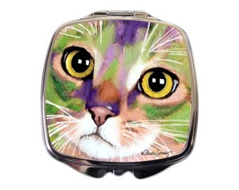 Kauhi Eyes Cat Art Compact Mirror