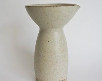 Stoneware sake pitcher/vase