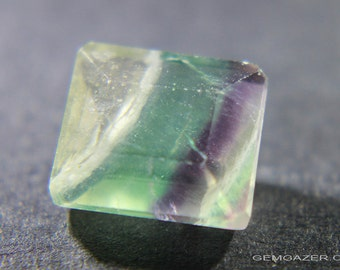 Multicolour banded Fluorite, faceted, China.  5.66 carats.