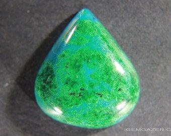 Eilat Stone cabochon, Israel.  25.89 carats
