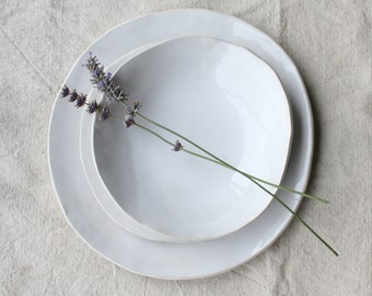Ceramic Dinner Plates, Ceramic Bowl Handmade Tableware Stoneware Dishes Dinnerware