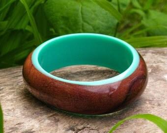 Wood and Resin Bangle
