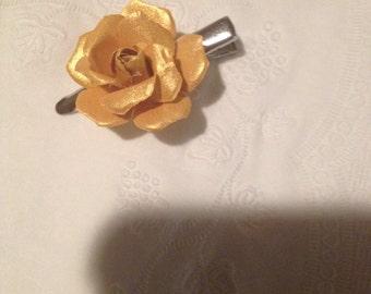 Yellow Rose hairclip