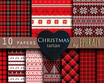 30% OFF AND MORE. Christmas plaid digital paper. Tartan digital paper. Christmas. Christmas paper. Plaid paper. Plaid digital paper.