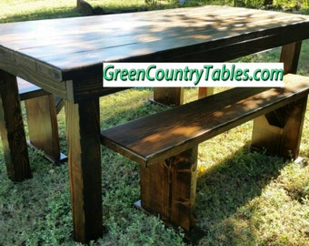 Classic Post Farmhouse table farm table (custom)
