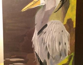 Oscar the Blue Heron