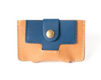 Card holder man camel leather