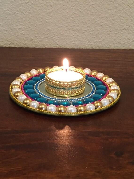 floating tea light candle holder diwali decor diya by handkrafters. Black Bedroom Furniture Sets. Home Design Ideas