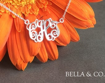 925 Sterling Silver Monogram Necklace