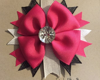 Multi-Colored Stacked Hair bow
