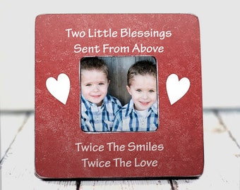 Twins Gift Twins Baby Gift Mother Father Of Twins Reveal Toddler Twins fraternal Identical Twins Two Little Blessing Sent From Above