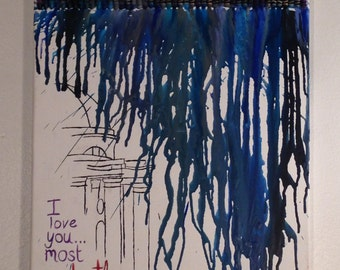 Pride and Prejudice: Gazebo in the Rain Crayon Art