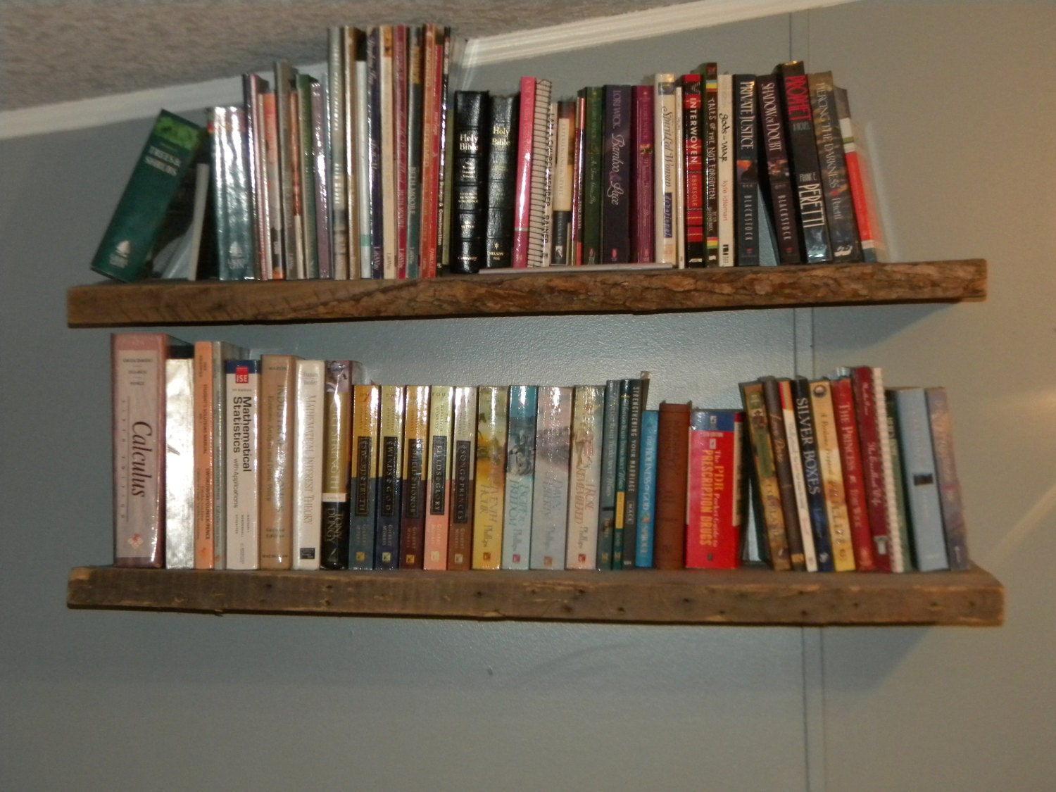 Amazing photo of Reclaimed Wood Floating Shelves by SlantedShed on Etsy with #935E38 color and 1500x1125 pixels