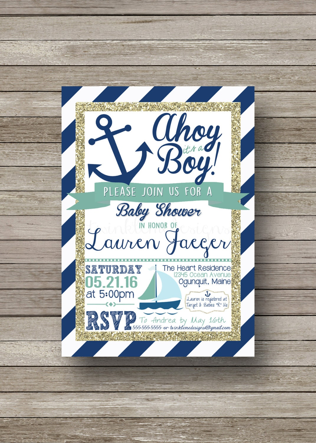 nautical baby shower invitation ahoy it 39 s a by twinklemedesigns