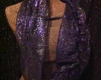Infinity Scarf- Halloween Purple Spider Web