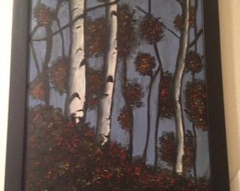 Tree Oil Painting with frame