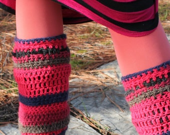 Legwarmers Hot Pink with Details