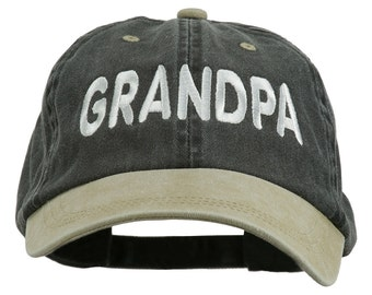 Grandpa Embroidered Washed Two Tone Cap