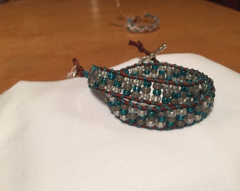 Glass seed beads stackable bracelets