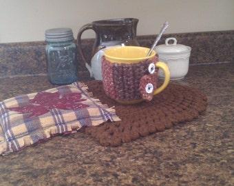 Crochet Pattern, Mug Cozy