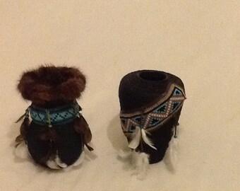 Upcycled ooak vases, native american, spiritual.