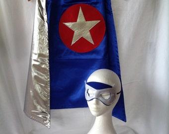 Super hero Cape, mask and cuffs set
