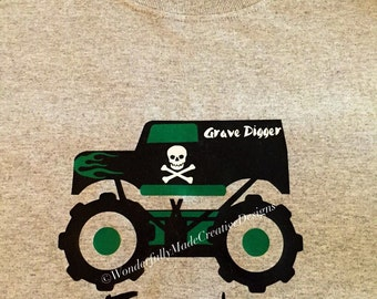 Grave Digger Shirt---Kids---Monster Jam