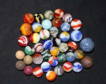 Vintage old Toy marbles ....Beautiful