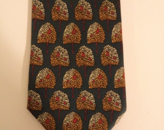 75% off SALE! Tree tie// Chic hippie woodsman silk necktie// Vintage Nice Ties made in Italy