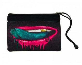 Pink Lips Cosmetic Bag