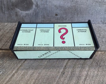 Vintage Monopoly Game Board Box - Connecticut