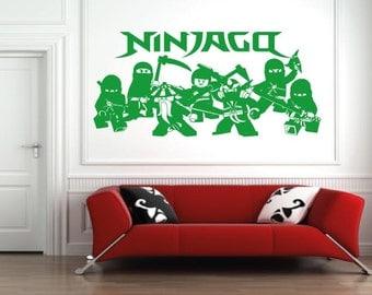 Lego ninjago Sticker wall art room wall sticker kai/green ninja/film/bricks/book/game walll sticker