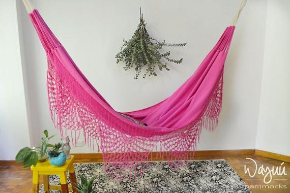 Macondo rose hammock, boho, 100% cotton, natural, traditional, soft cotton, hand woven, outdoors