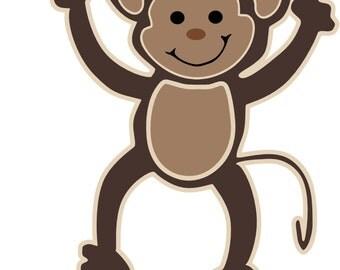 Monkey Girl SVG, Toddler svg, Baby svg, Infant svg, Baby shower svg, 1st birthday svg, first birthday svg, Monkey svg, Cute monkey svg, svg