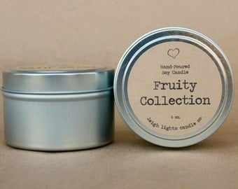 6 oz. Travel Tin | Soy Candle | Fruity Collection | CHOOSE YOUR SCENT