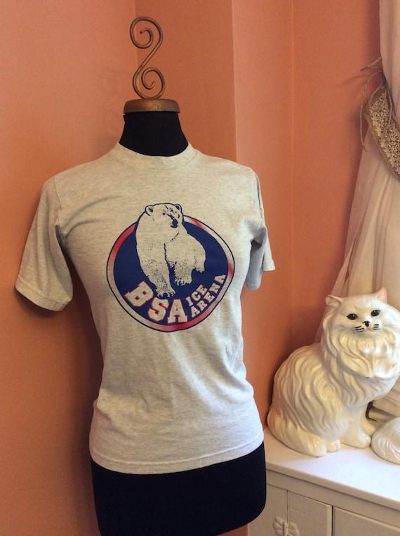 Vintage Polar Bear T-Shirt, Ice Arena T-Shirt, BSA Bridgewater, Ice Hockey, Ice Skating (A992)