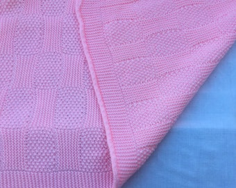 Baby Blanket, pink  - soft & snuggly!