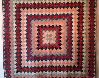 Bold, trip around the world vintage quilt