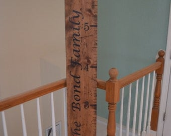 Distressed Growth Ruler, Personalized, Hand Painted, Growth Chart, Wooden, oversized growth ruler