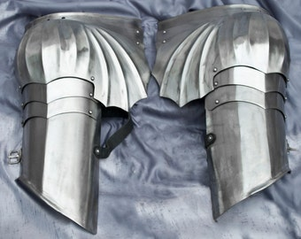 SCA combat armor, Gothic shoulders, 16GA stainless