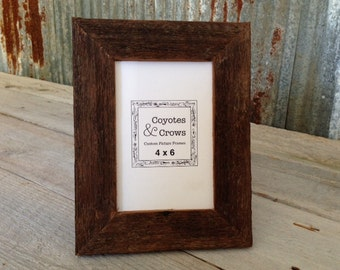 4x6 Photo Frame - 4x6 Picture Frame - Reclaimed Cedar Barn Wood Picture Frame - Rustic Decor Picture Frame - Table Top Picture Frame - Texas