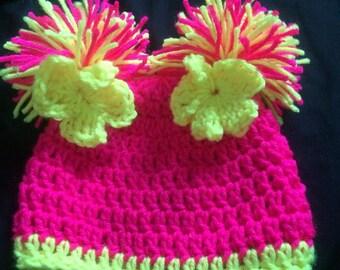 Baby Pom Pom Beanie Hat