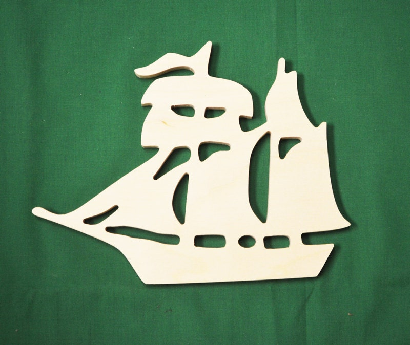 Ships Canada Us Wide Wood Sign: Wood Boat Cut Out Nautical Decor Wooden Ship Cutout