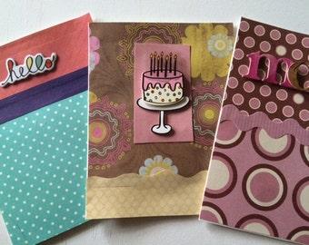 warm tones card set.