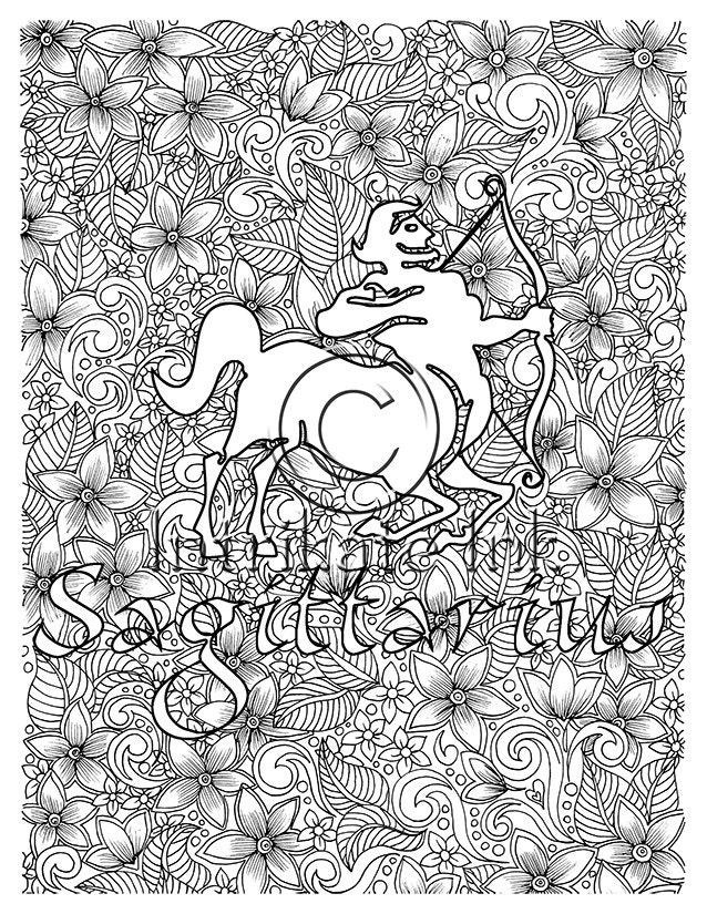sagittarius coloring pages - photo #30
