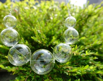 Bubble Glass Necklace (3cm)