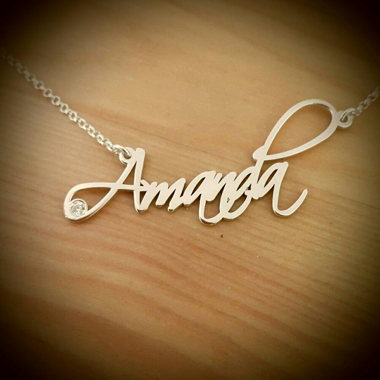 Amanda Style Name Necklace Silver Name Necklace Order Any